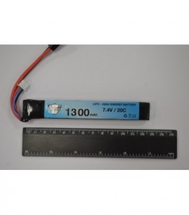 Black Storm 1300mAh Lipo 7.4V 20C stick13.5 x 21 x 128mm