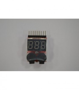 LiPO Low Voltage Alarm Buzzer/Indicator (1-8s)