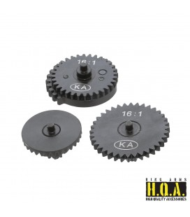 16:1 HQA Steel High Speed Gear Set